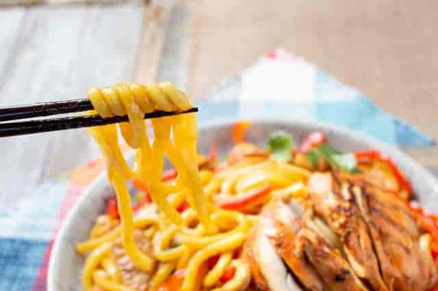 chicken stir fry udon