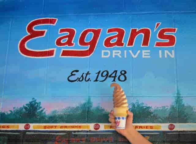 mural eagan's drive in established 1948