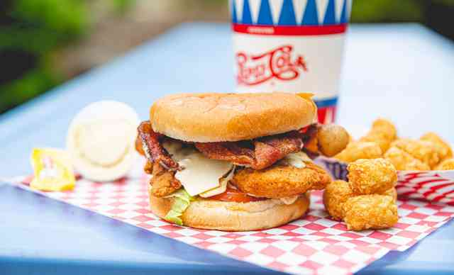 bacon chicken burger