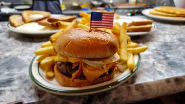 Montana Burger and fries