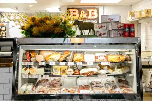 butcher shop counter