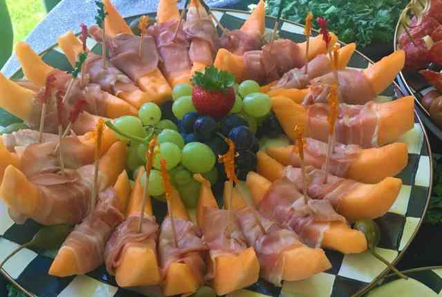 meat wrapped fruit