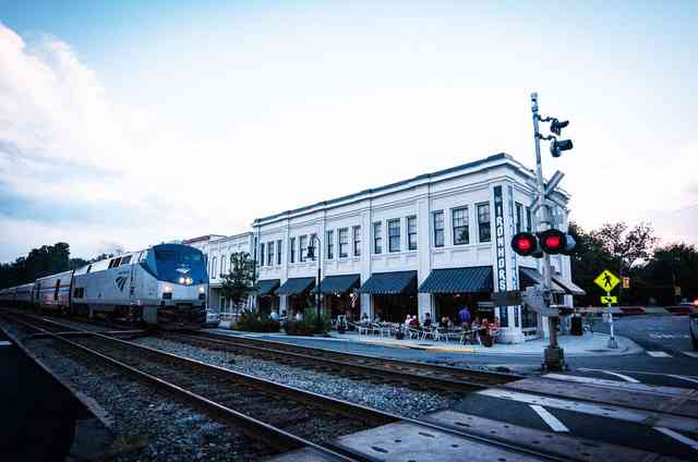 Iron Horse Restaurant exterior with train