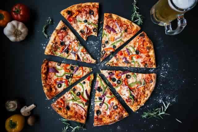 Supreme pizza slices