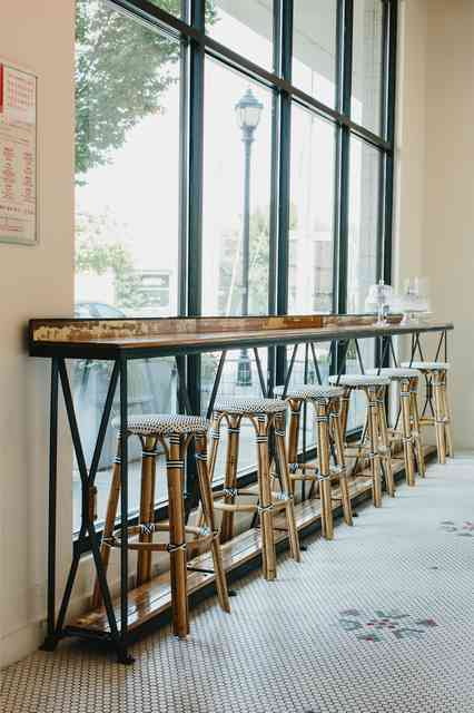 lined up stools