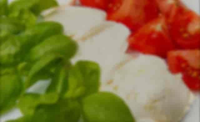 basil mozzarella tomato