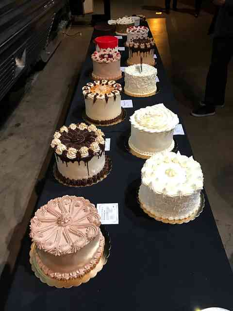 table with cakes