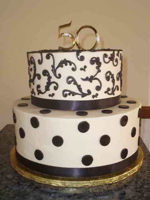 white cake with swirls