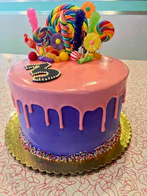 lollipops on a cake