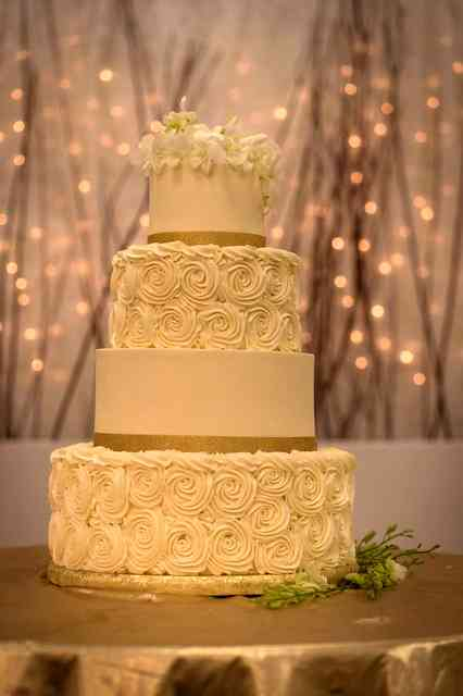 cake with lights