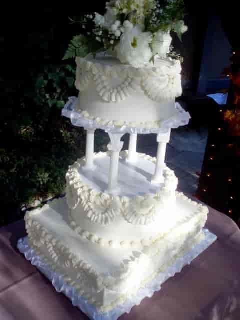 2 tiered wedding