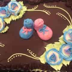 cake with booties