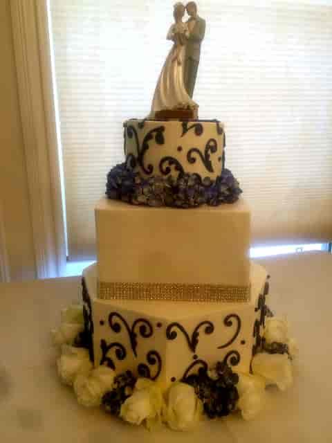 decorative tiered cake