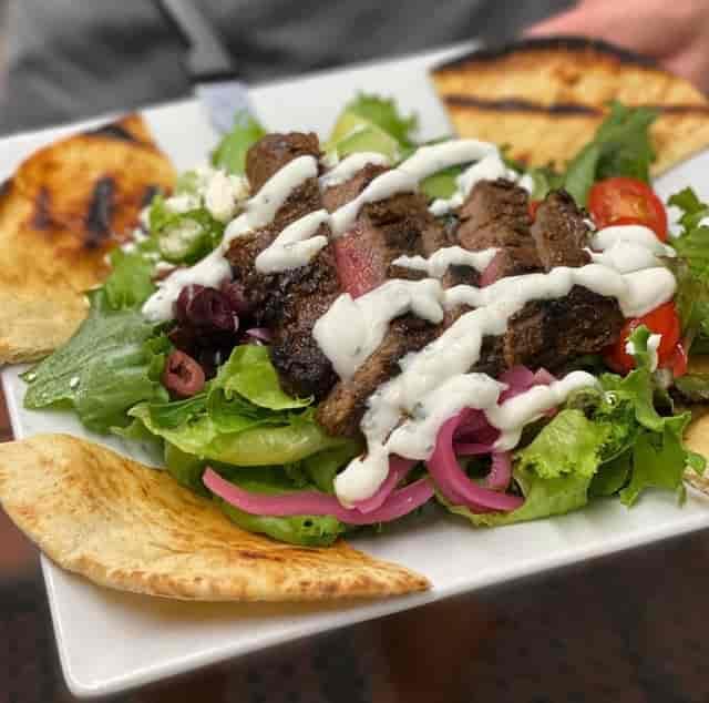 Beef shwarma salad