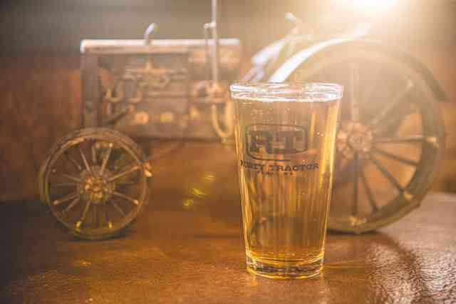 tractor and beer