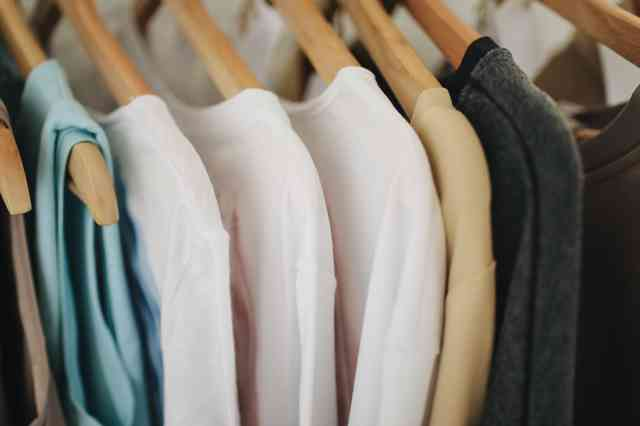 shirts on a rack
