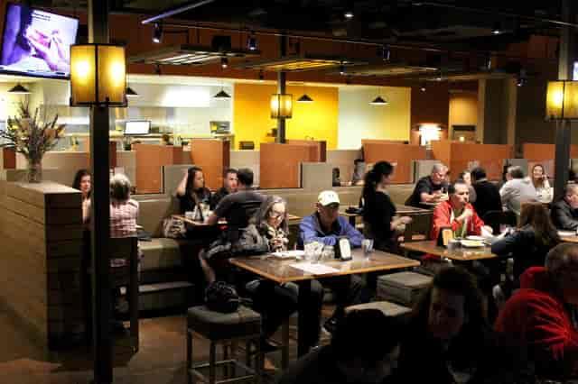 Patrons dining at Santa Fe Capitol Grill