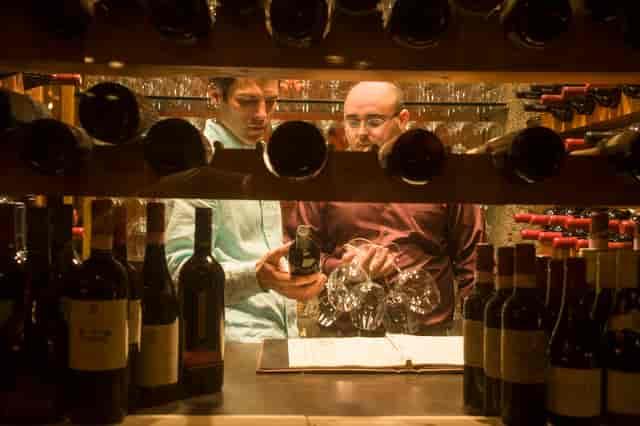 picking wine