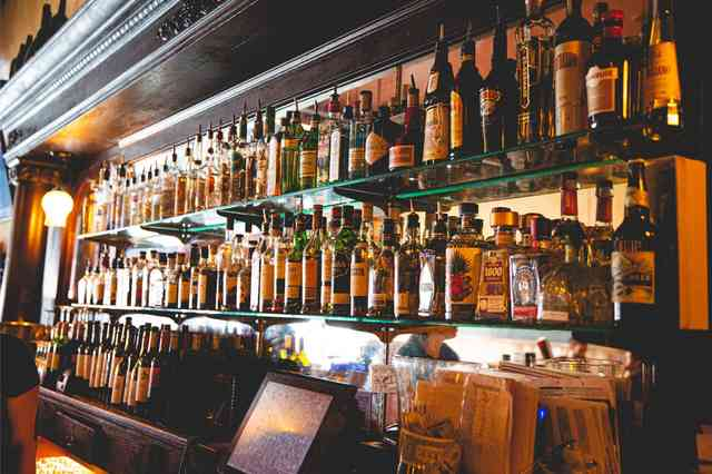 Alcohol on display