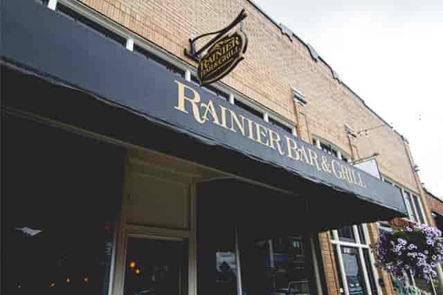Ranier Bar & Grill awning