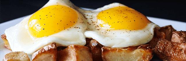 eggs on potatoes