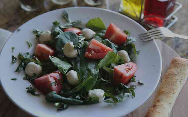 salad with cheese and tomato