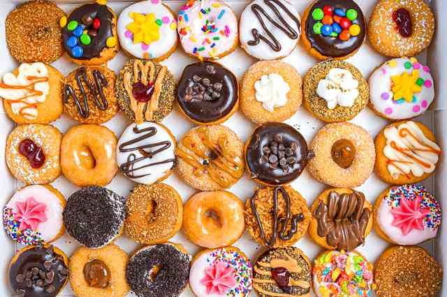 Mini Donuts Closeup
