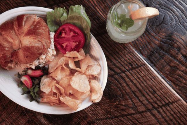 chicken salad croissant-sandwich