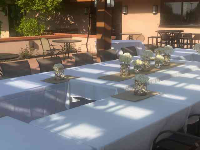 table on the patio