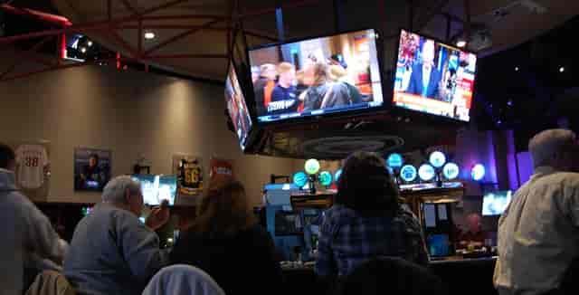 tvs at sports bar