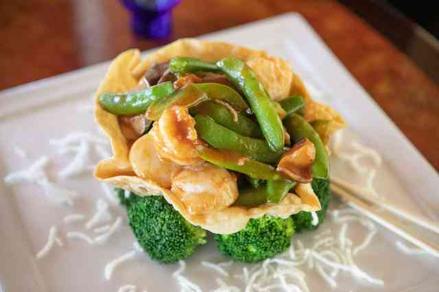 Chicken and Snow Peas, Broccoli