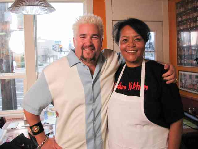 Gloria and Guy Fieri Smiling