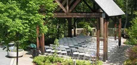 exterior wedding set up
