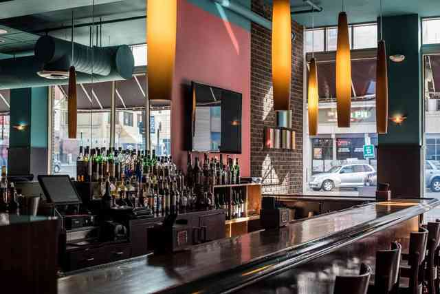 Interior bar at Bricco Akron in Akron, OH