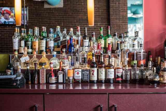 Full bar at Bricco Akron in Akron, OH