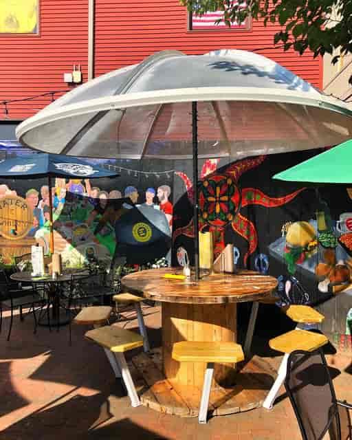 Outside Area With Umbrella
