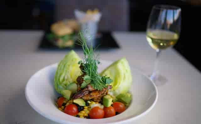black shrimp wedge salad