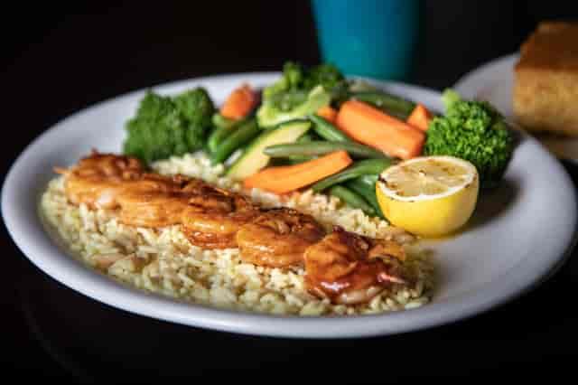 BBQ shrimp with rice