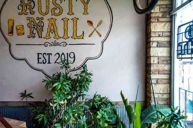 Rusty interior sign