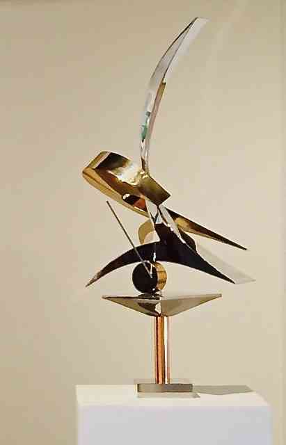 """""""PERFECT MARTINI"""" - COPPER, BRONZE AND STAINLESS STEEL - 30"""" x 22"""" x 8"""" (sculpture)"""