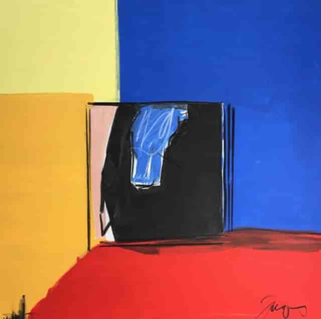 """Self Isolation"" Mixed media on canvas - 36 x 26"