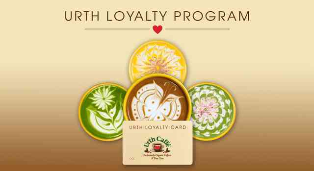 Urth Loyal card with latte designs