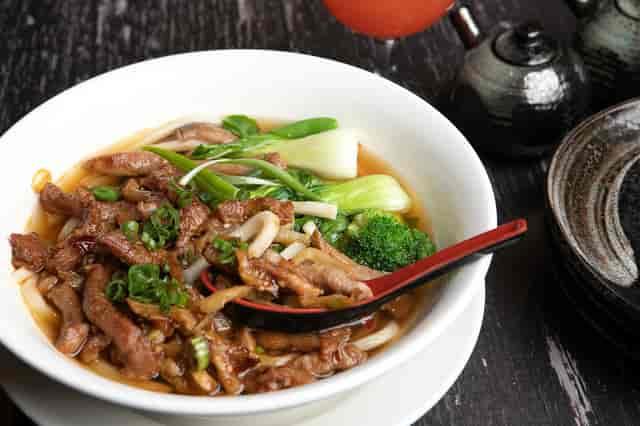 pork udon noodle soup