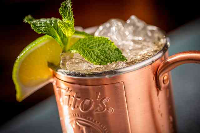 Mojito in copper mug