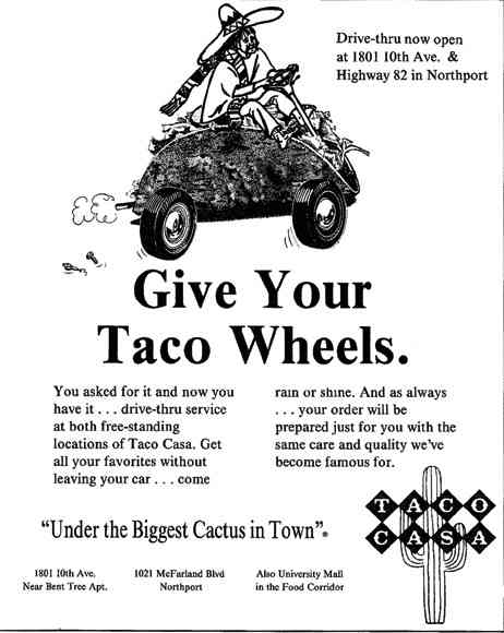 give your taco wheels