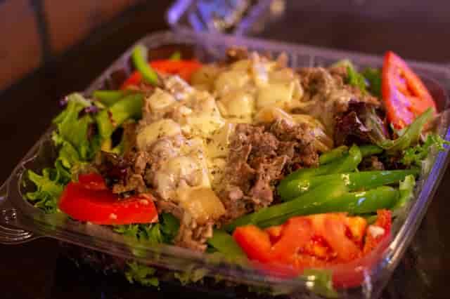 cheesesteak salad