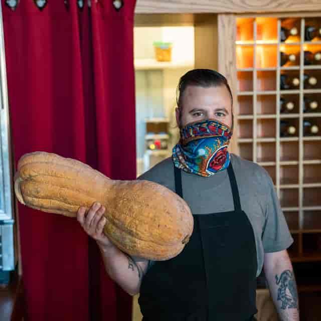 Chef Francis squash fresh farm
