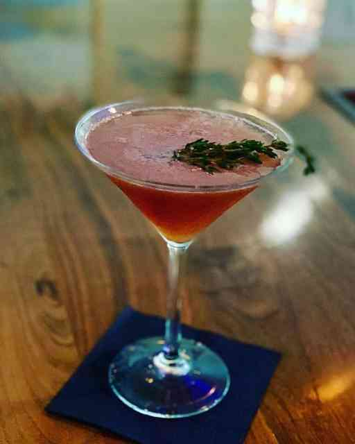 Strawberry Lemon Thyme Martini
