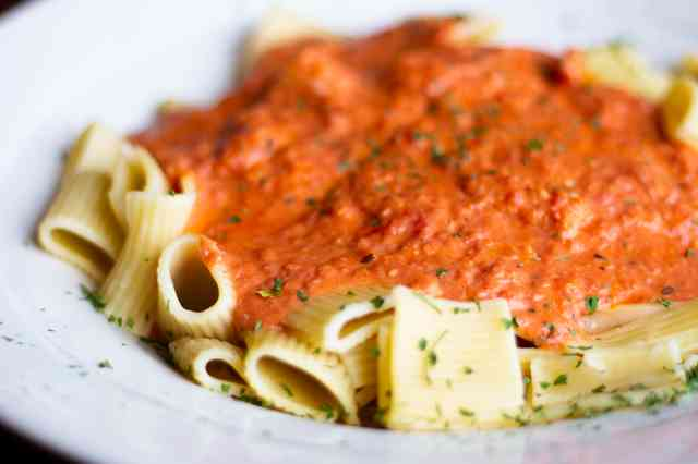 pasta with sauce