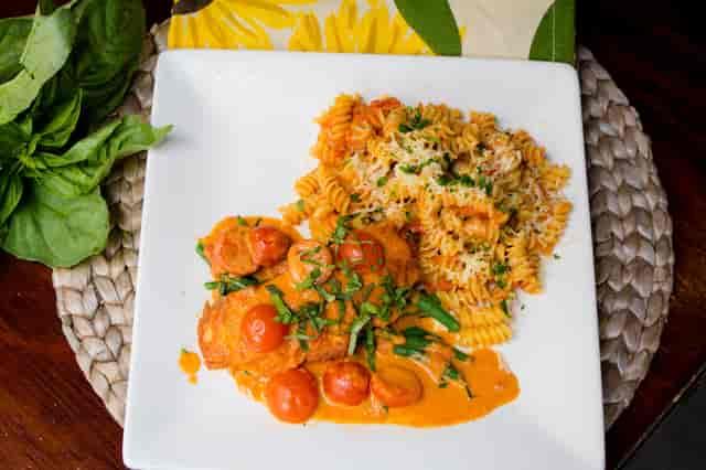 tomato and pasta dish
